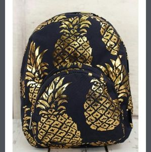Handbags - New Small Navy & Gold Pineapple Backpack!